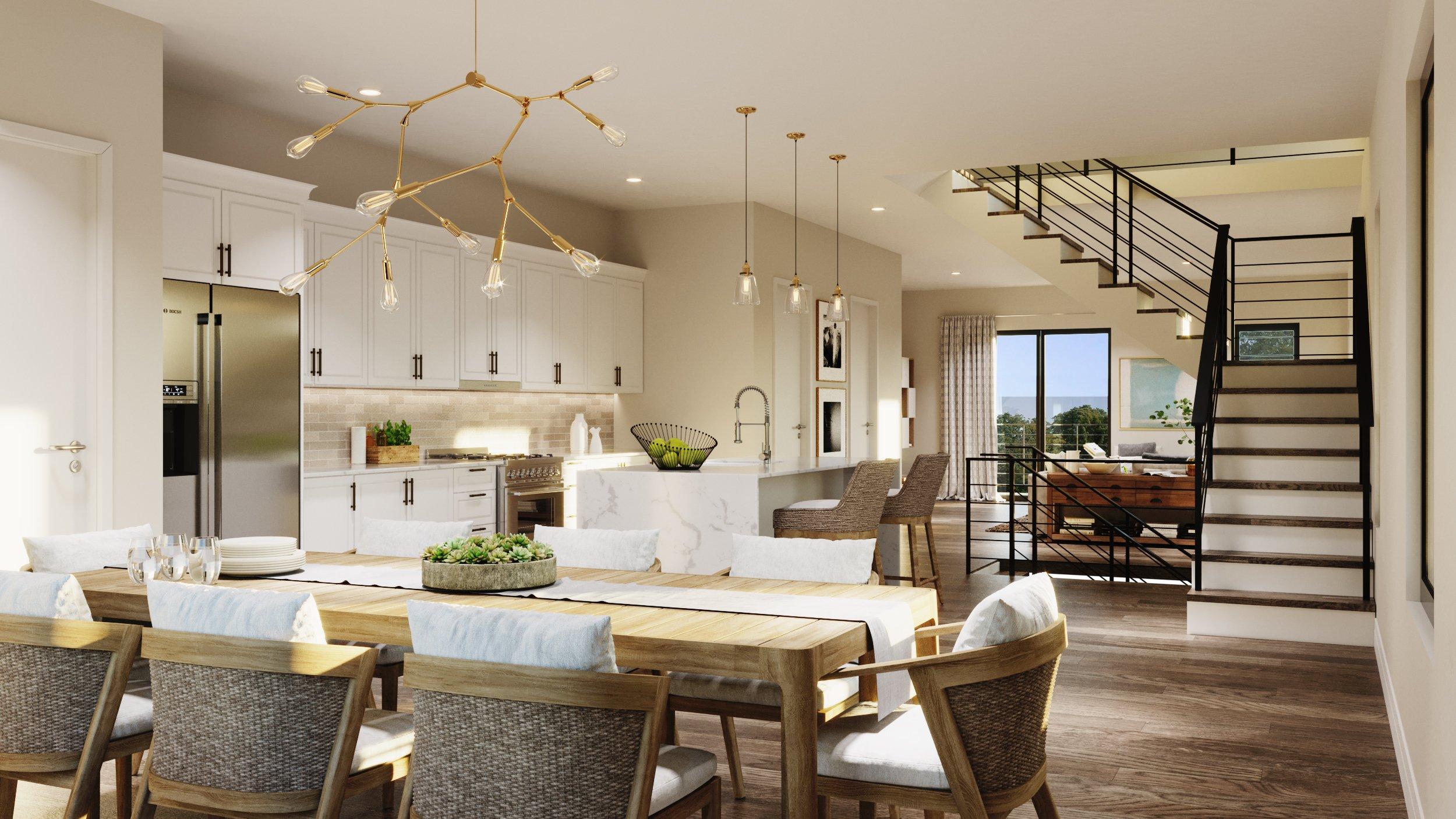 Skyview of Brandon Render - Dining room view