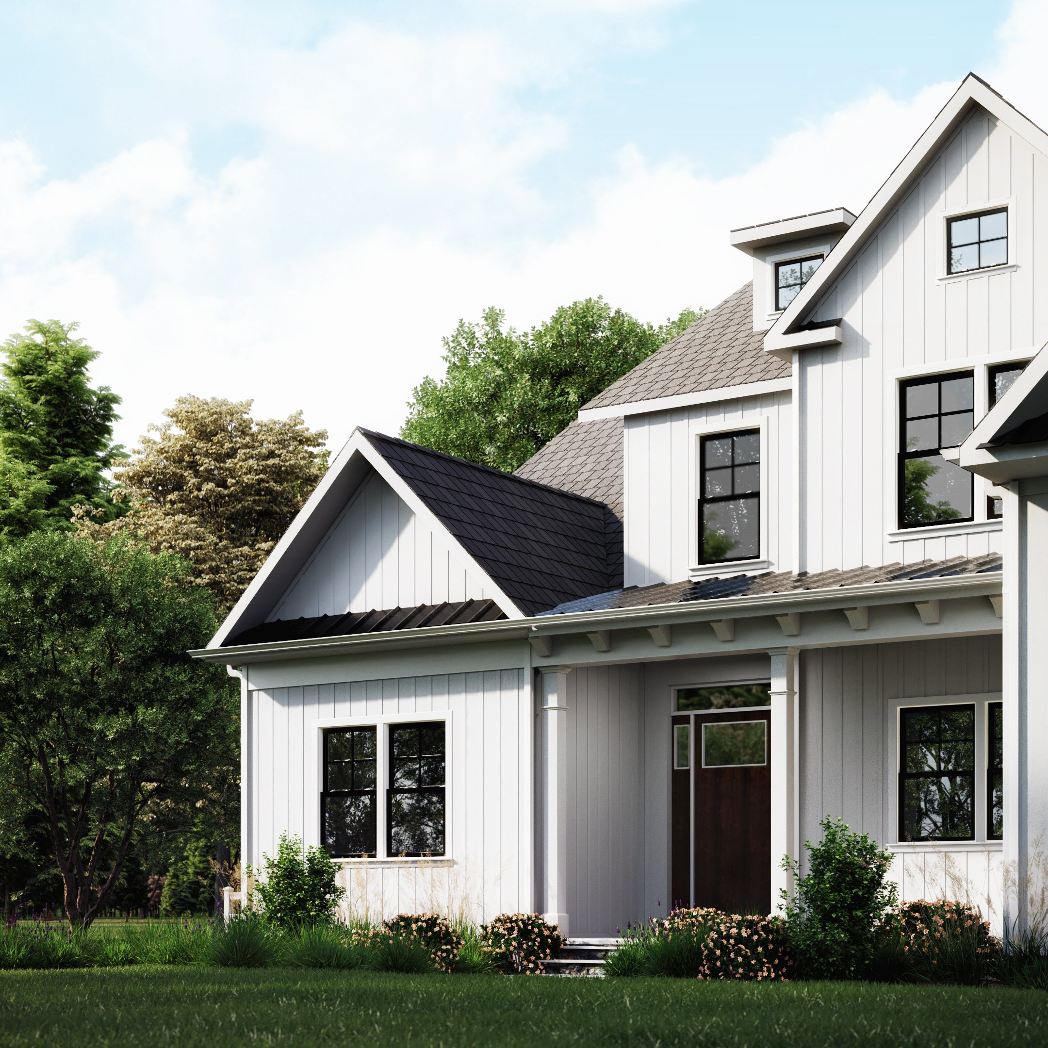 Modern Farmhouse 3D render