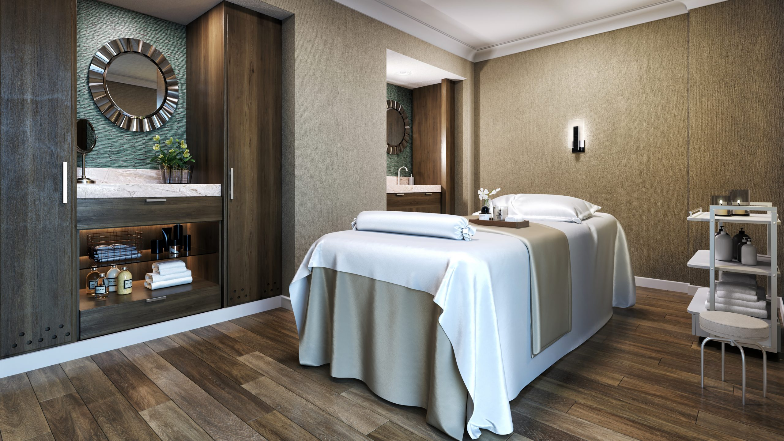 Ritz-Carlton New Orleans Spa - Treatment Room 3D render
